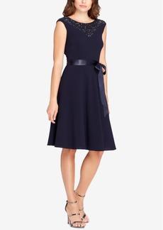 Tahari Asl Embellished A-Line Dress
