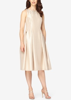 Tahari Asl Embellished Fit & Flare Dress