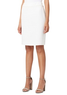 Tahari Asl Embellished Fringed-Trim Pencil Skirt