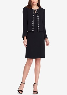 Tahari Asl Embellished Jacket & Dress Suit