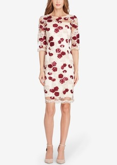 Tahari Asl Embellished Lace Sheath Dress