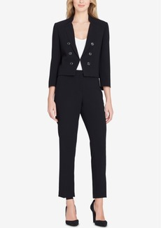 Tahari Asl Embellished Wing-Collar Pantsuit, Regular & Petite