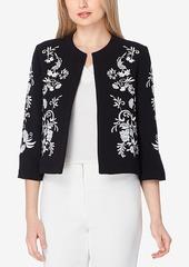 Tahari Asl Embroidered Blazer