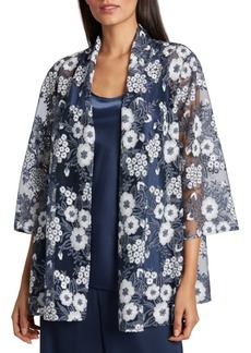 Tahari Asl Embroidered Jacket & Camisole Top