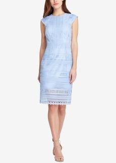 Tahari Asl Embroidered Lace Dress