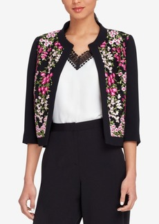 Tahari Asl Embroidered Mesh Jacket, Regular & Petite