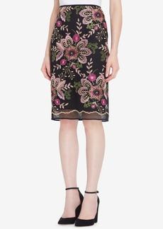 Tahari Asl Embroidered Pencil Skirt