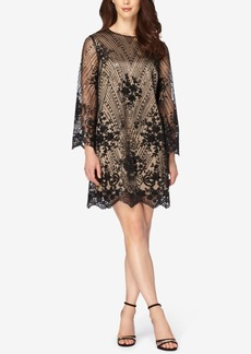 Tahari Asl Embroidered Sequined Shift Dress