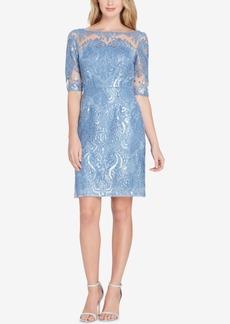 Tahari Asl Embroidered Sheath Dress