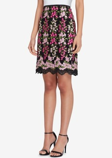 Tahari Asl Embroidered Skirt, Regular & Petite