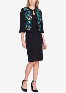 Tahari Asl Embroidered Skirt Suit