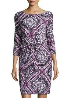 Tahari Emilia 3/4-Sleeve Dress