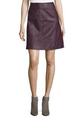 Tahari ASL Faux-Leather A-Line Skirt