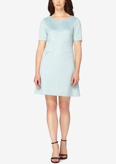 Tahari Asl Faux-Suede A-Line Dress