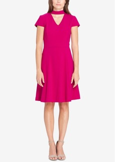 Tahari Asl Fit & Flare Choker Dress