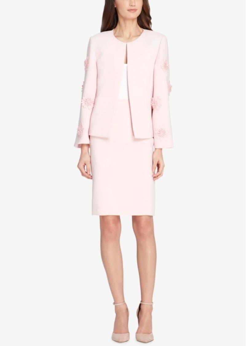 7b53e50051cd On Sale today! Tahari Tahari Asl Floral-Applique Skirt Suit