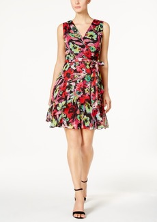 Tahari Asl Floral Chiffon A-Line Dress, a Macy's Exclusive Style