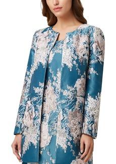 Tahari Asl Petite Floral-Jacquard Topper Jacket