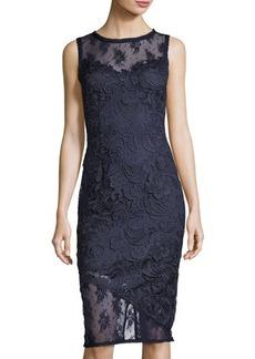 Tahari ASL Floral-Lace Sheath Dress