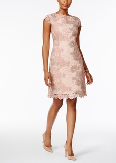 Tahari Asl Floral Lace Sheath Dress