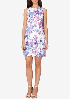 Tahari Asl Floral Lace Shift Dress