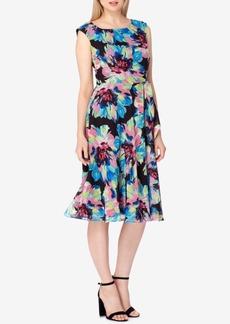 Tahari Asl Floral-Print A-Line Midi Dress
