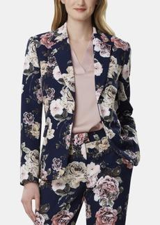 Tahari Asl Floral-Print Blazer