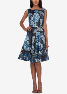 Tahari Asl Floral-Print Fit & Flare Dress