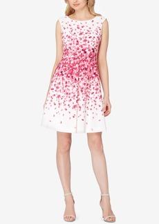Tahari Asl Floral-Print Fit & Flare Dress