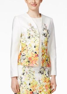 Tahari Asl Floral-Print Poplin Jacket