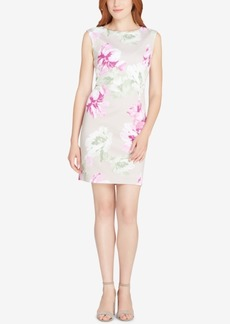 Tahari Asl Floral-Print Scuba Sheath Dress