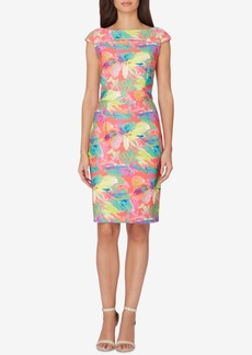 Tahari Asl Floral-Print Sheath Dress
