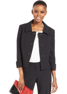 Tahari Asl Three Button Three-Quarter-Sleeve Jacket