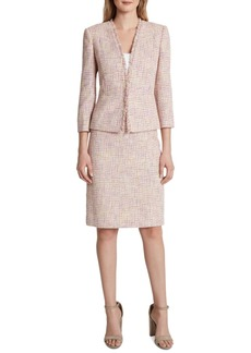 Tahari Asl Fringe Jacket Skirt Suit