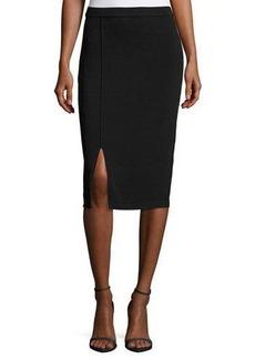 Tahari ASL Front-Slit Knit Skirt