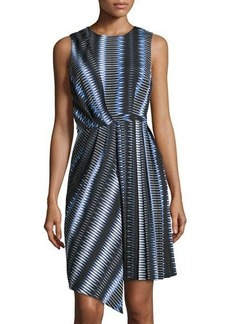 Elie Tahari Gabby Stripe-Print Sleeveless Dress