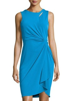 Tahari Georgia Side-Knot Sheath Dress