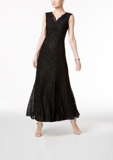 Tahari Asl Glitter Lace Gown