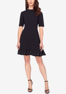 Tahari Asl Grommet Fit & Flare Dress