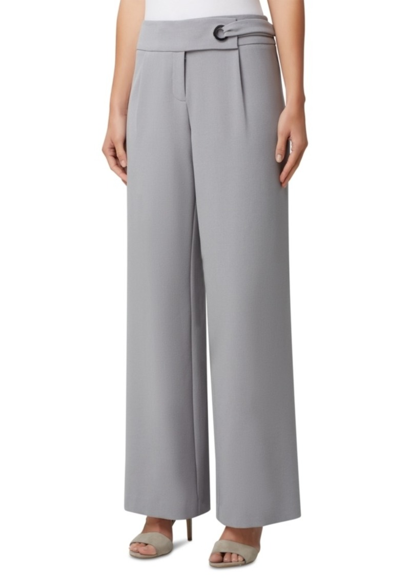 Tahari Asl Grommet-Waist Wide-Leg Dress Pants