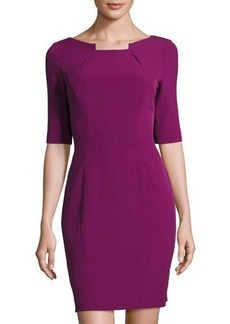 Elie Tahari Half-Sleeve Sheath Dress
