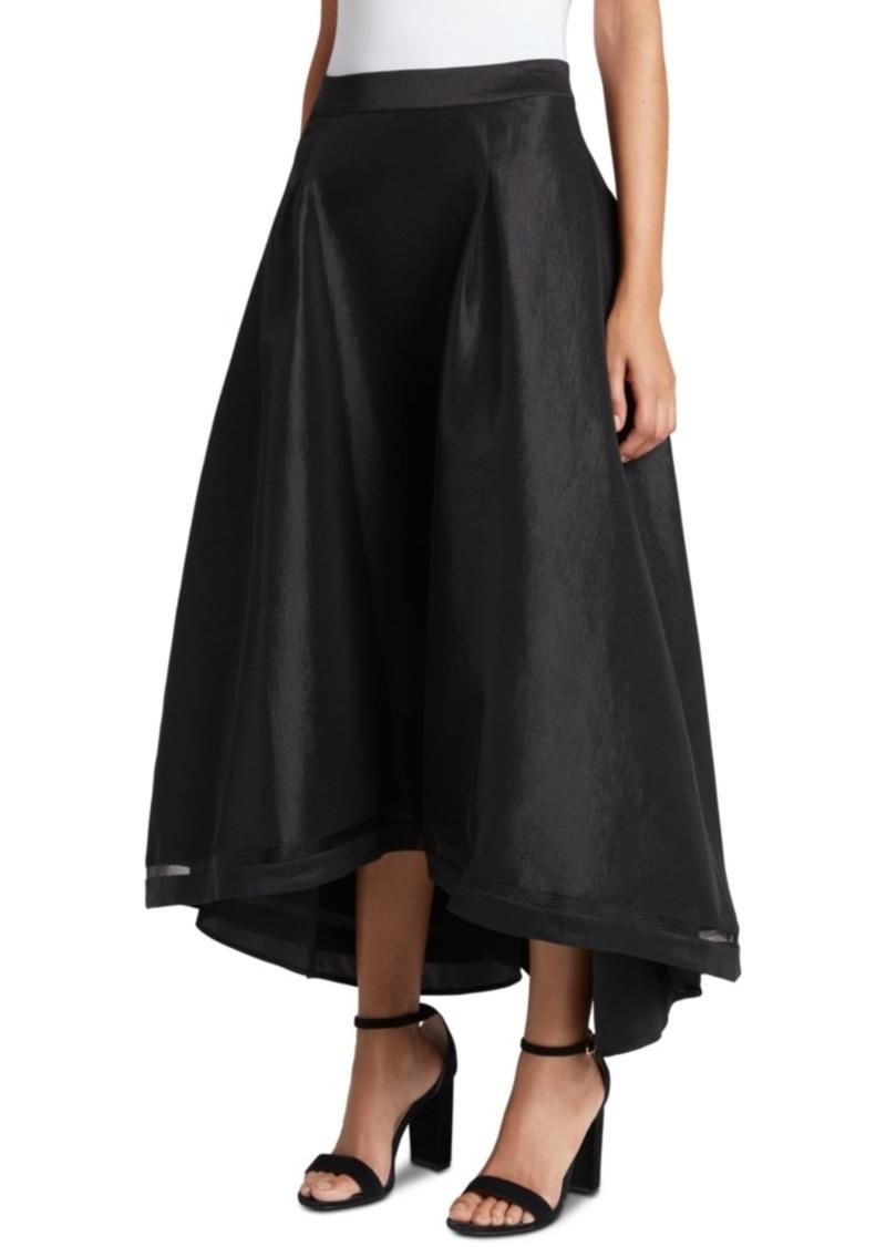 Tahari Asl High-Low Taffeta Skirt