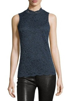 Tahari ASL High-Neck Lace Blouse
