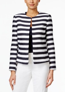 Tahari Asl Horizontal-Stripe Jacket