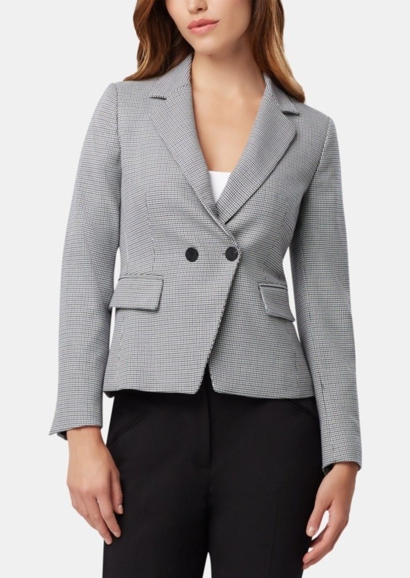 Tahari Asl Houndstooth Double-Breasted Jacket