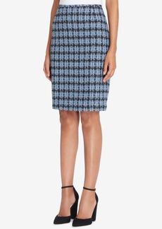 Tahari Asl Houndstooth-Print Pencil Skirt