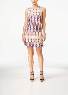Tahari Asl Ikat-Print Shift Dress