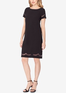 Tahari Asl Illusion Scallop Shift Dress