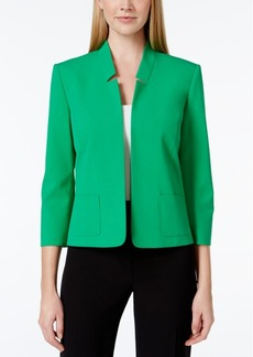Tahari Asl Inverted -Collar Blazer