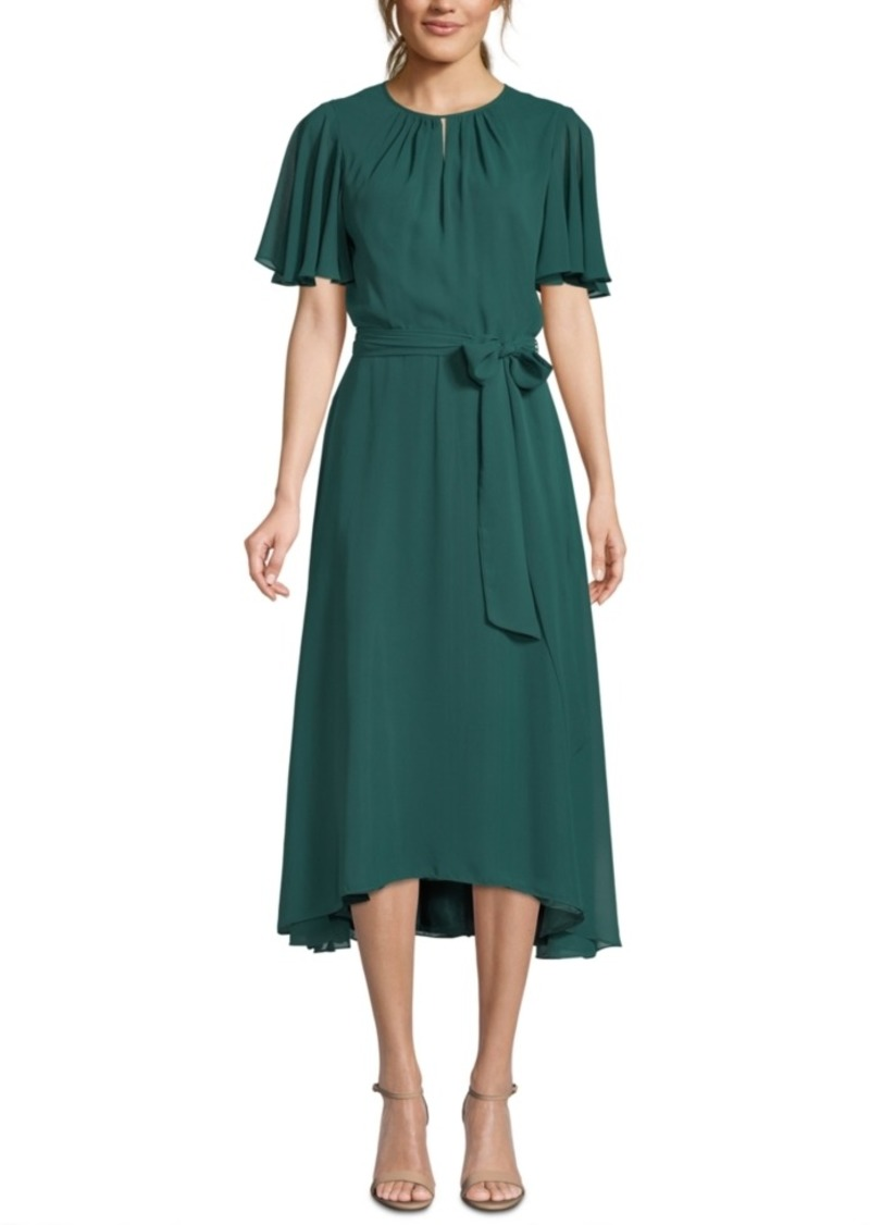 Tahari Asl Keyhole Midi Dress